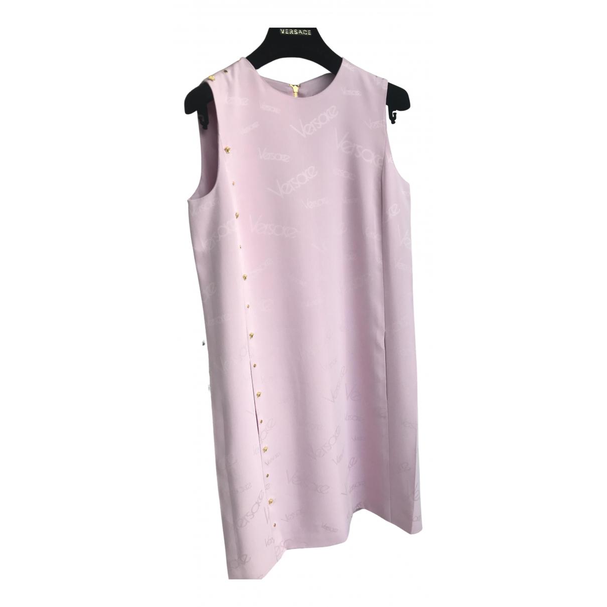 Versace - Robe   pour femme en tweed - rose