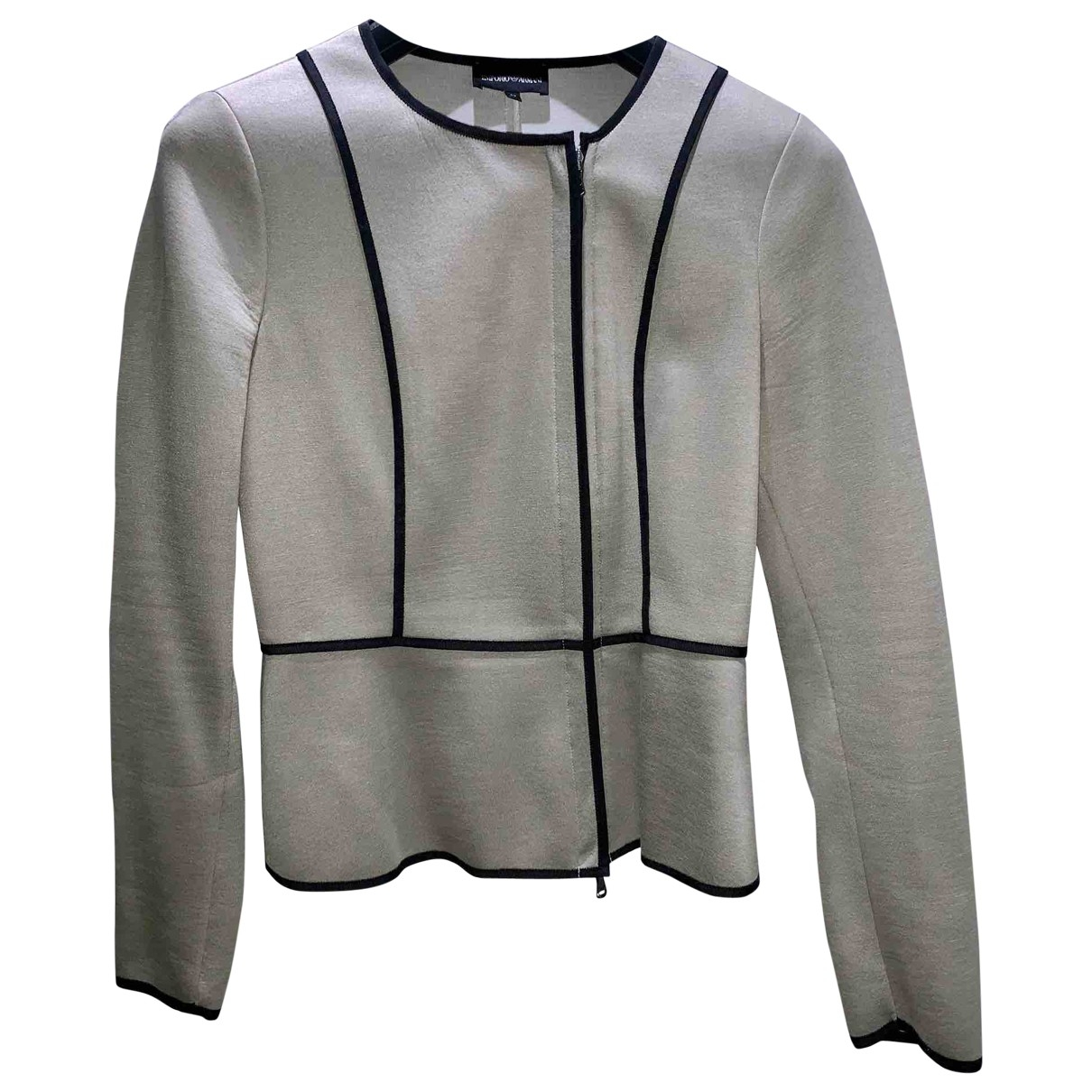 Emporio Armani \N Beige jacket for Women 42 FR