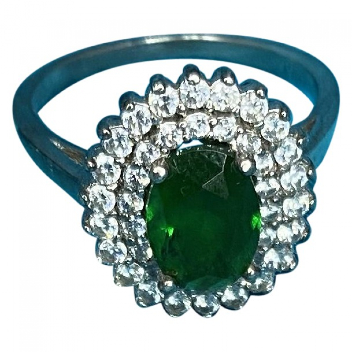 Non Signe / Unsigned Art Deco Ring in  Silber Silber