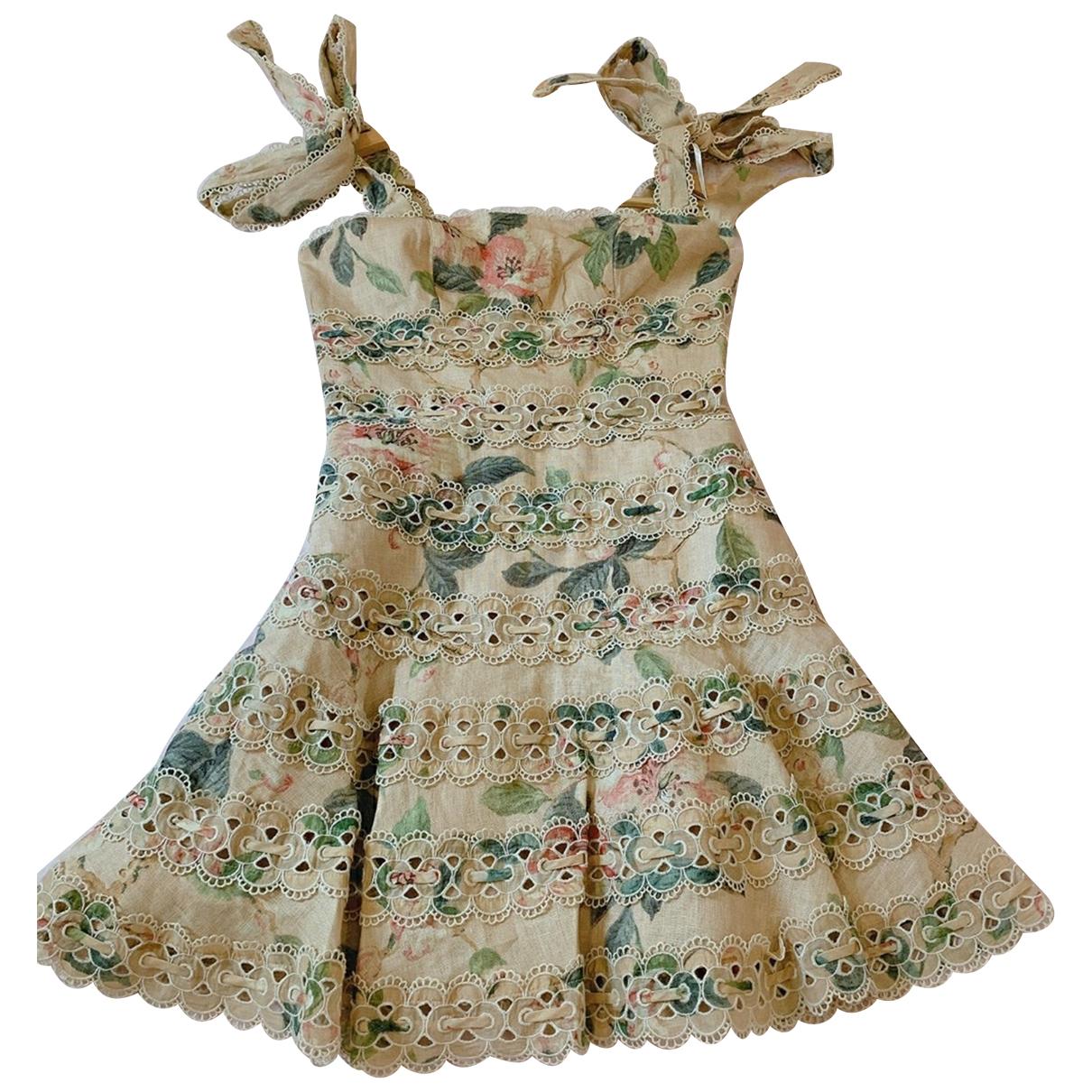 Zimmermann \N Kleid in  Bunt Leinen