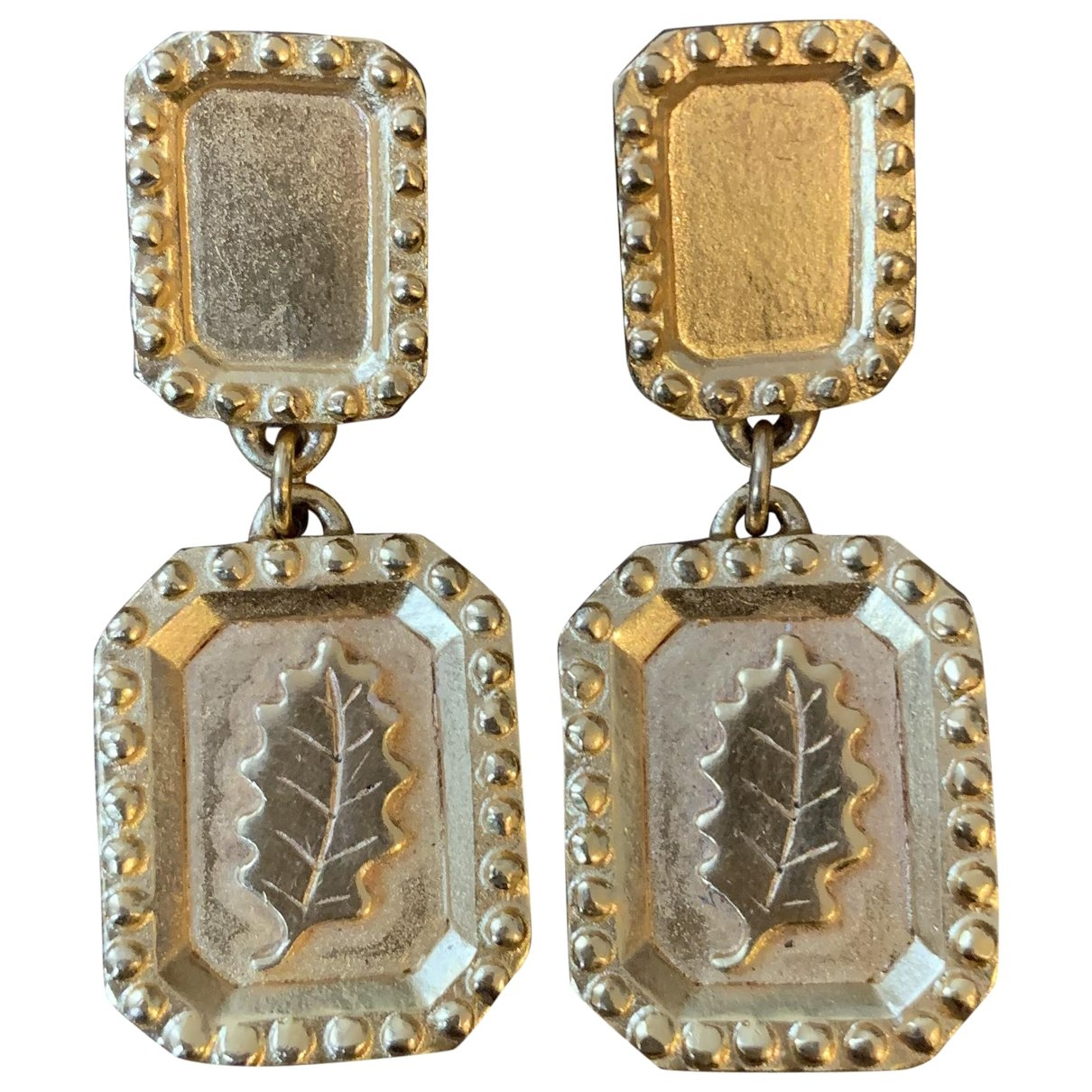Non Signé / Unsigned Motifs Floraux Gold Gold plated Earrings for Women \N