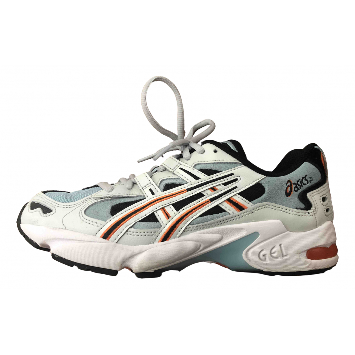 Asics \N Blue Leather Trainers for Women 6 UK