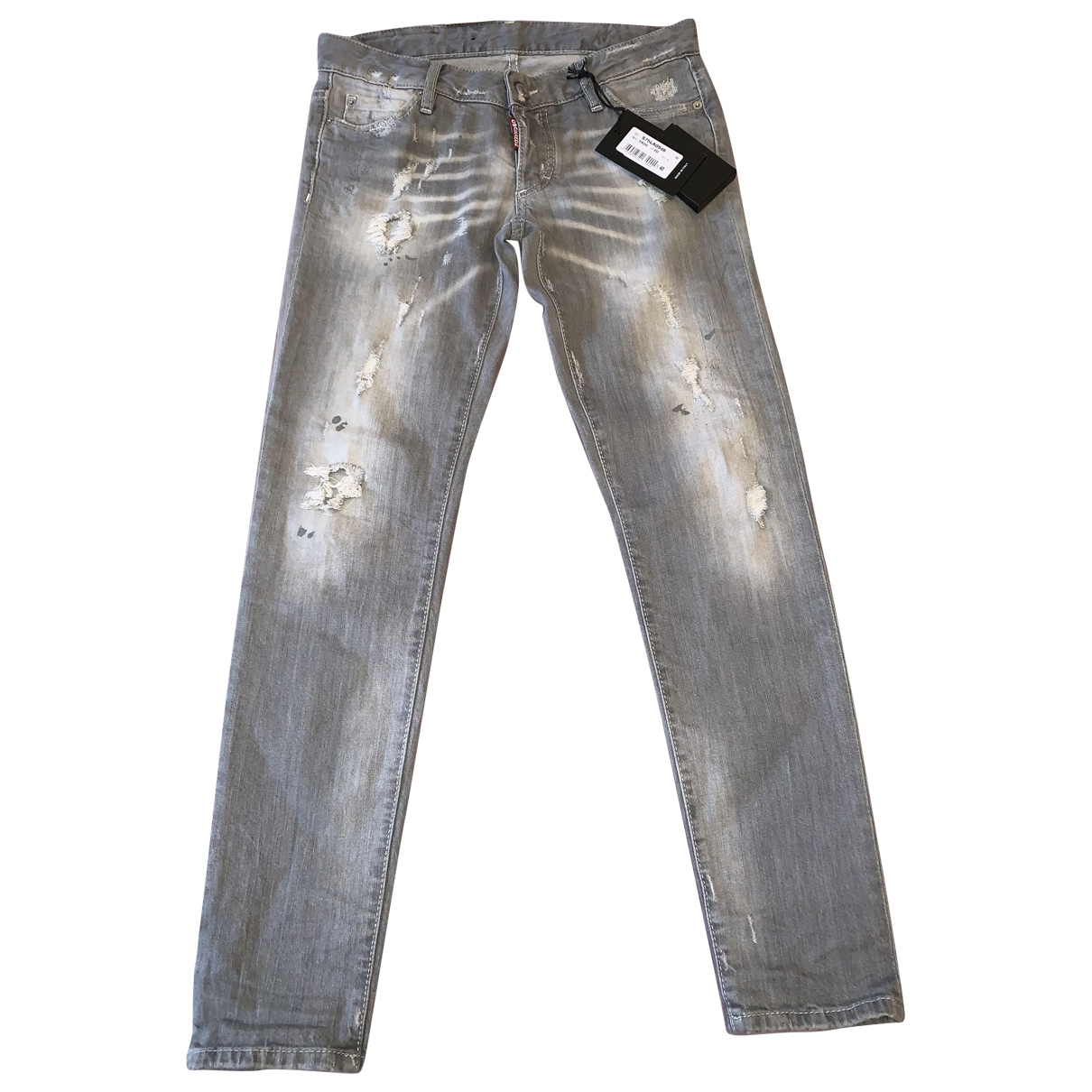 Dsquared2 \N Grey Denim - Jeans Jeans for Women 40 FR