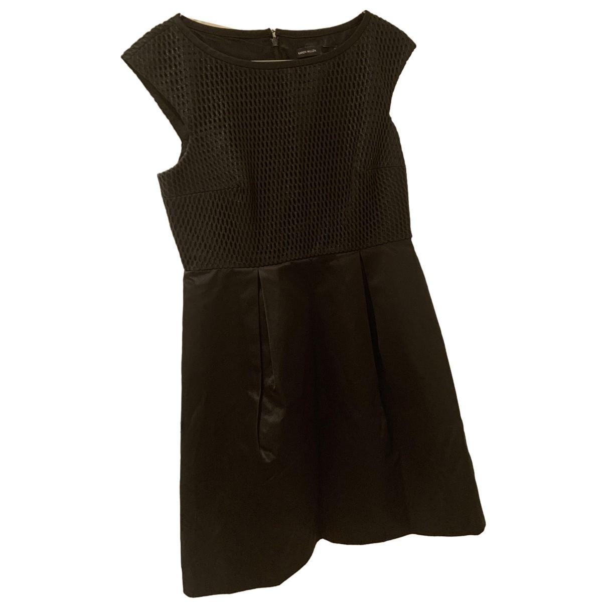Karen Millen - Robe   pour femme en coton - elasthane - noir