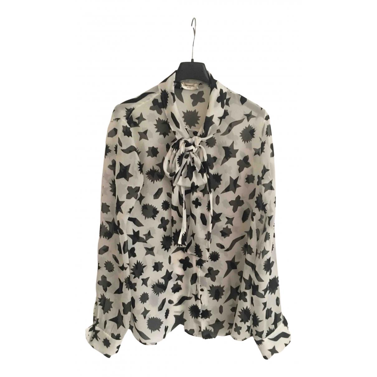 Saint Laurent \N White Silk  top for Women 42 FR