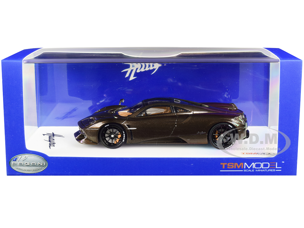 Pagani Huayra Hermes Edition Brown Metallic with Black Wheels 1/43 Model Car by True Scale Miniatures