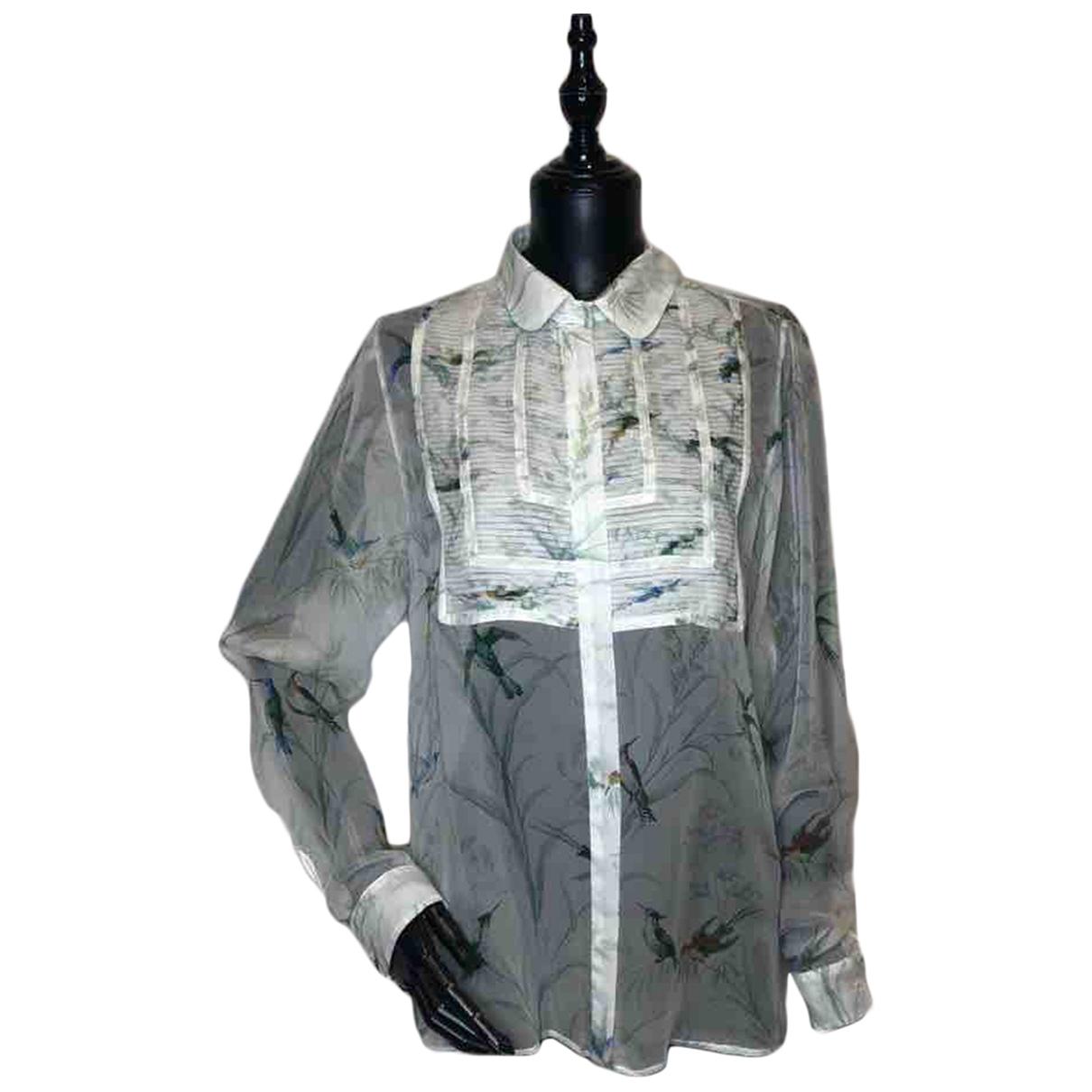 Rochas \N White Silk  top for Women 40 IT