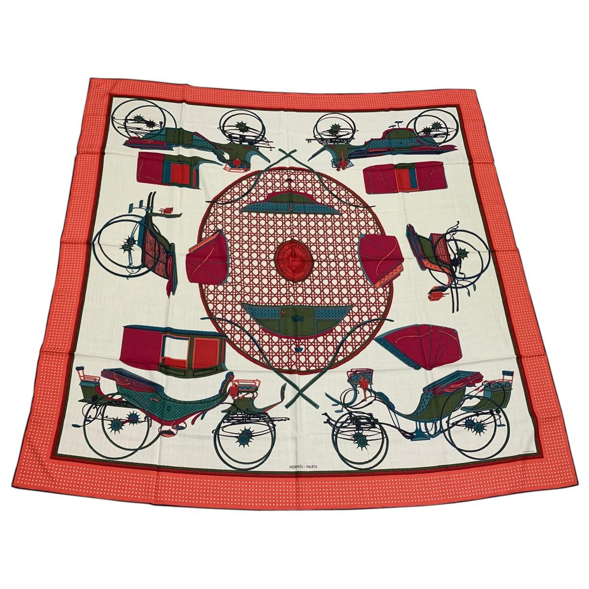 Hermes Carre Geant silk 140 Schal in  Bunt Kaschmir