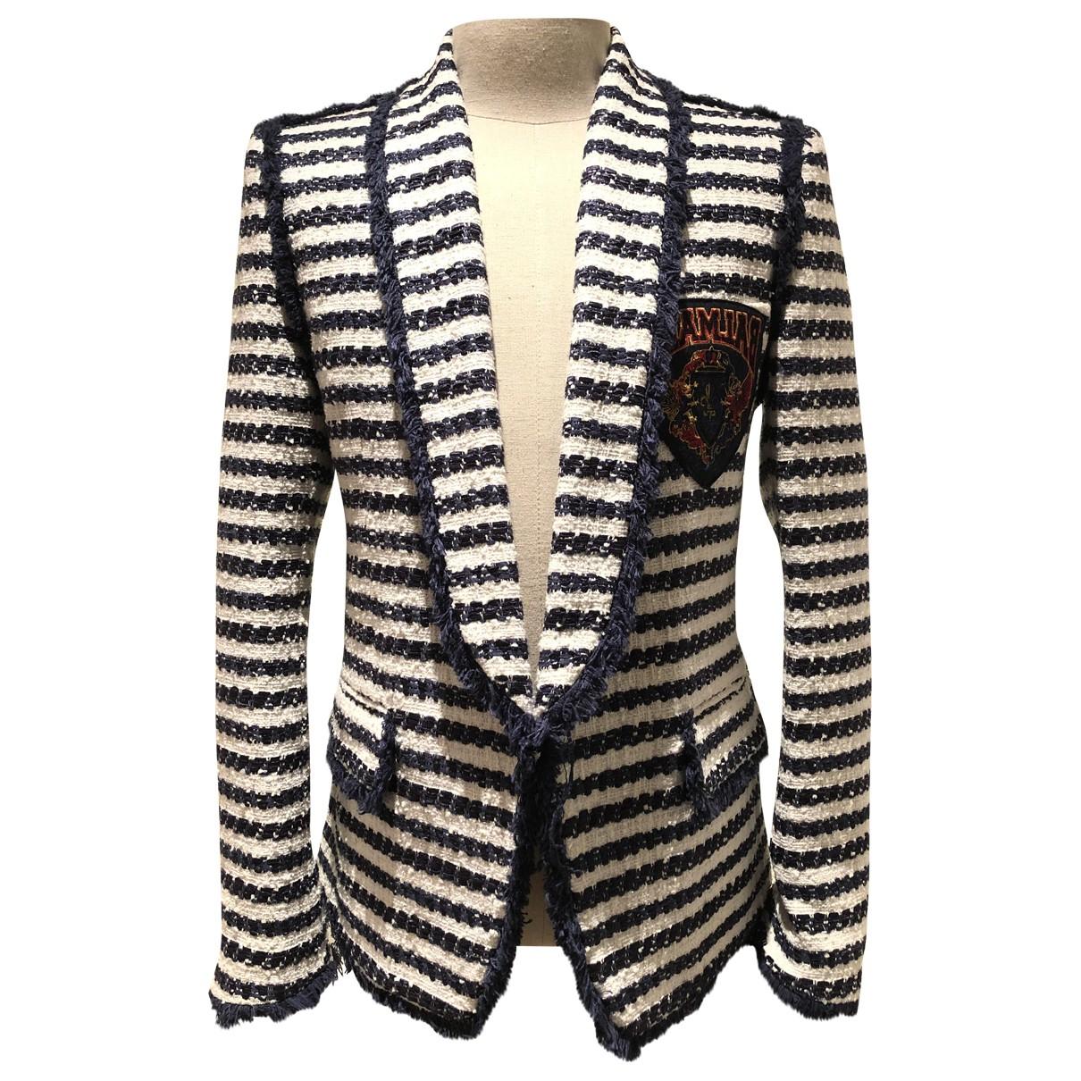 Balmain - Vestes.Blousons   pour homme en tweed - bleu