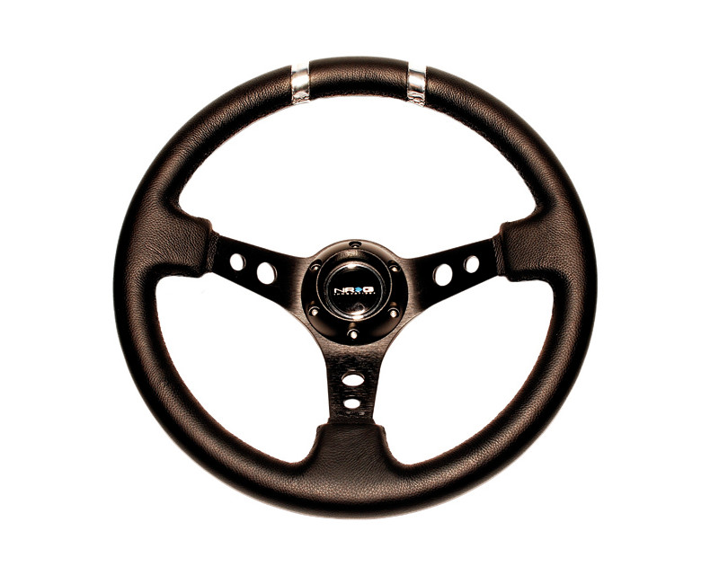 NRG ST-016R-SL Red with Silver Marking 3inch Deep 350mm Sport Steering Wheel Universal