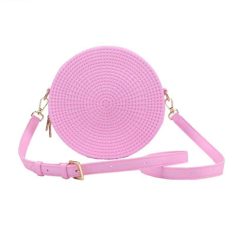 Ericdress Plain PVC Knitted Circular Crossbody Bags