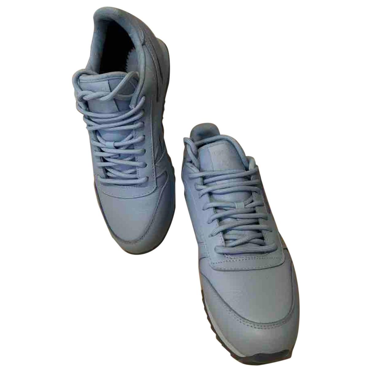 Reebok \N Sneakers in  Blau Leder