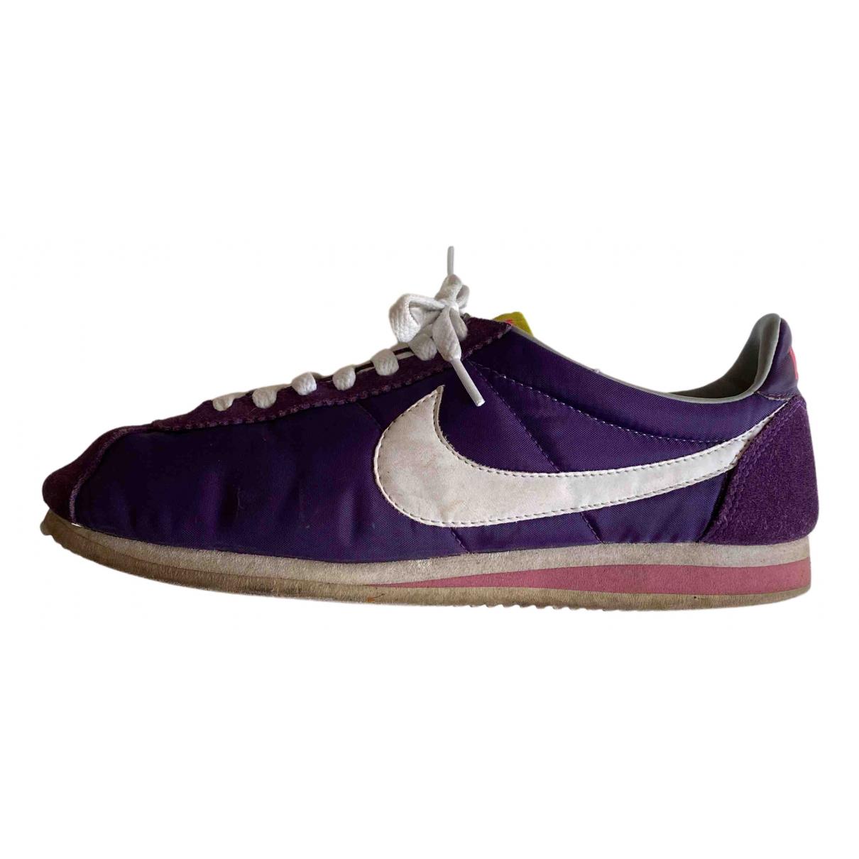 Nike - Baskets Cortez pour homme en toile - violet