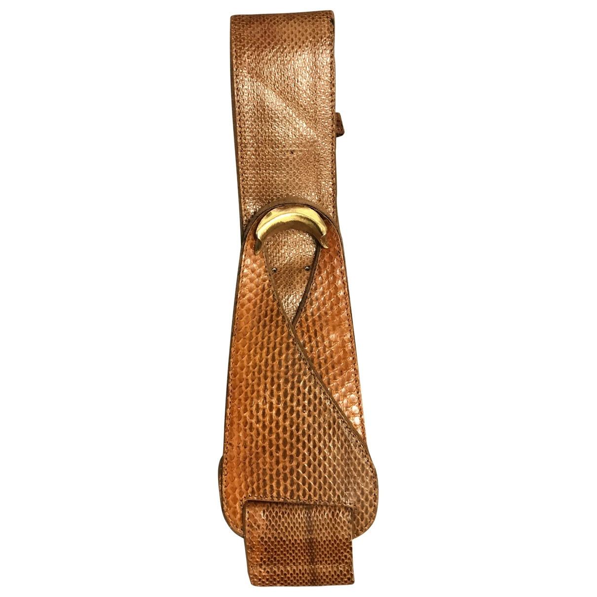 Lauren Moffatt \N Brown Python belt for Women 80 cm