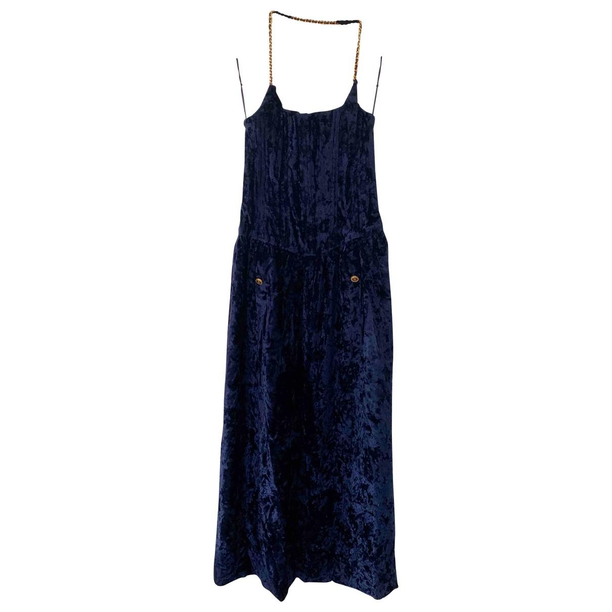 Chanel \N Kleid in  Blau Samt