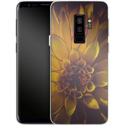 Samsung Galaxy S9 Plus Silikon Handyhuelle - Yellow Dahlia von Joy StClaire