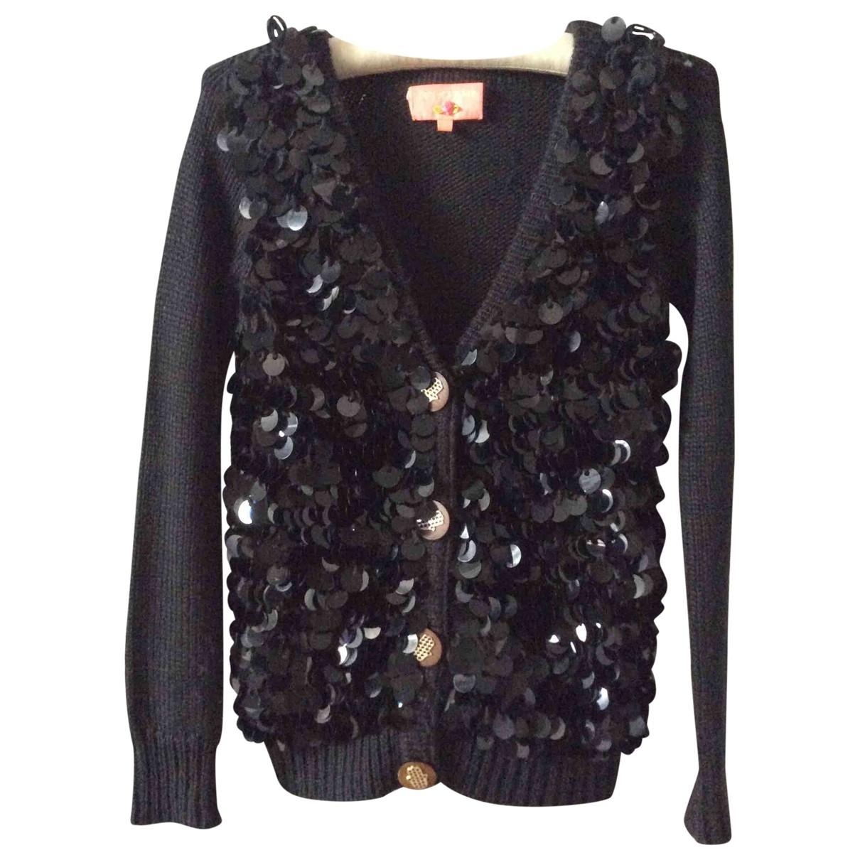 Manoush - Pull   pour femme en laine - noir