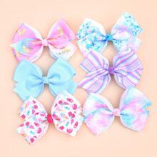 6pcs Toddler Girls Bow Knot Decor Hair Clip