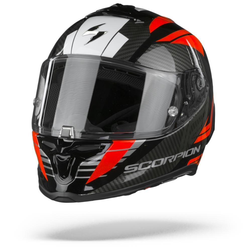Scorpion EXO-R1 Air Halley Casco Integral (Full Face) Negro Rojo Metal L