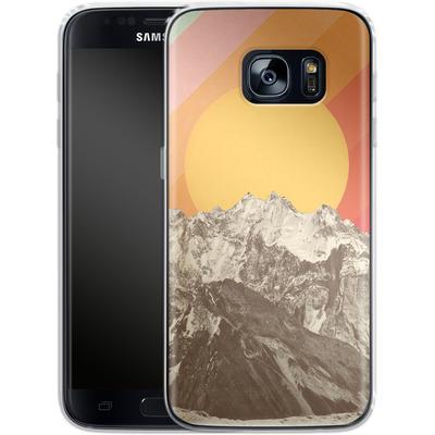 Samsung Galaxy S7 Silikon Handyhuelle - Mountainscape von Florent Bodart