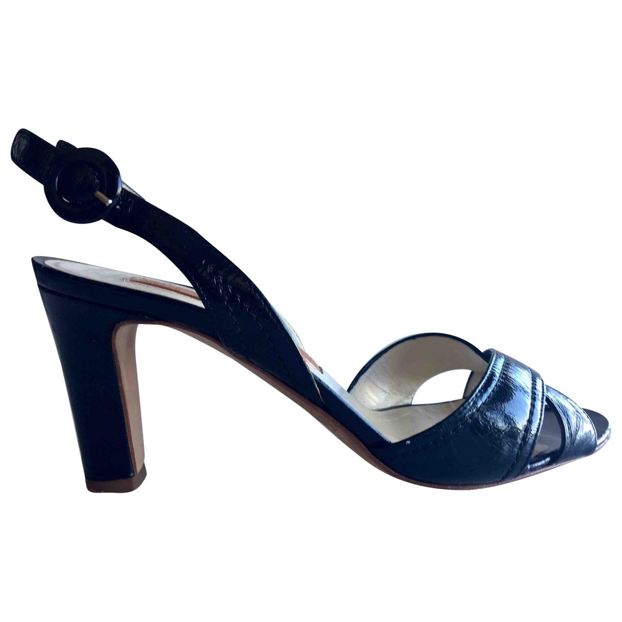 Rupert Sanderson \N Black Patent leather Sandals for Women 36.5 EU