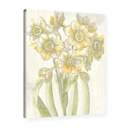 Brushstone Belle Fleur Yellow IV Crop Gallery Wrapped Canvas Wall Art, One Size , White