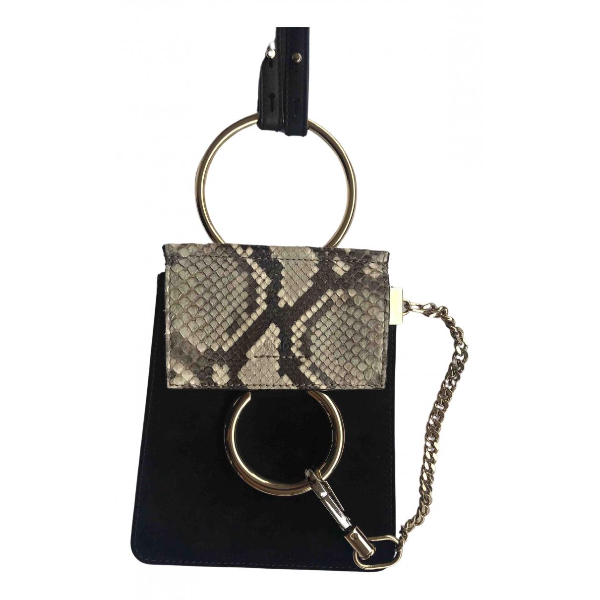 Chloé Faye Black Python handbag for Women N