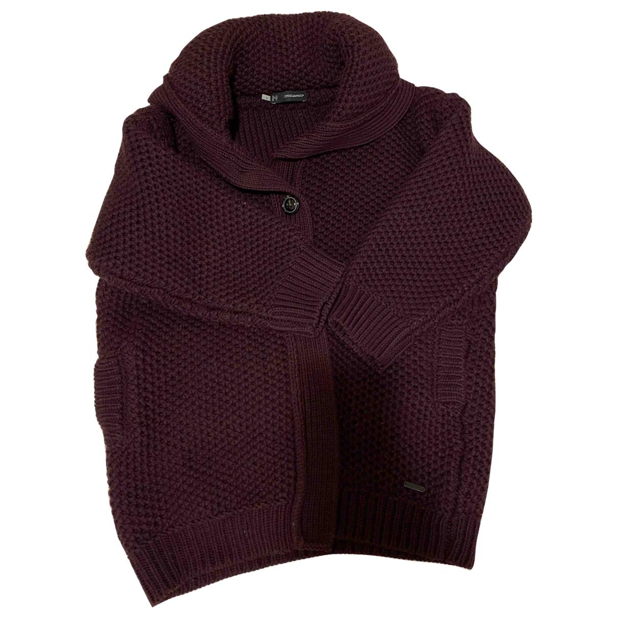 Dsquared2 \N Burgundy Wool jacket for Women S International