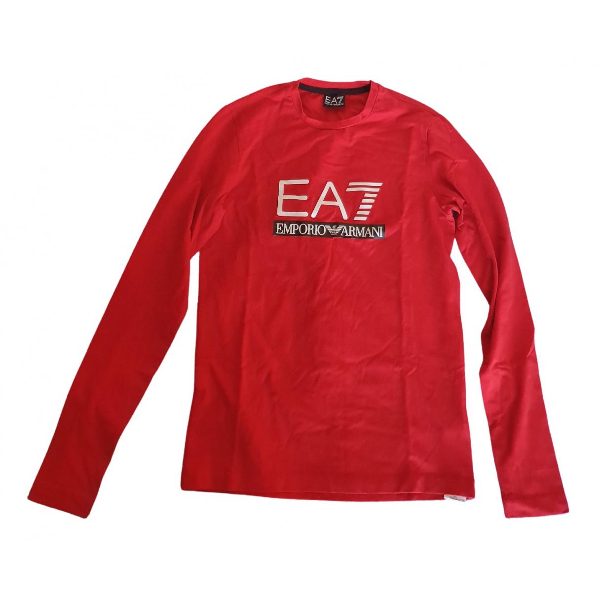 Emporio Armani - Tee shirts   pour homme en coton - rouge