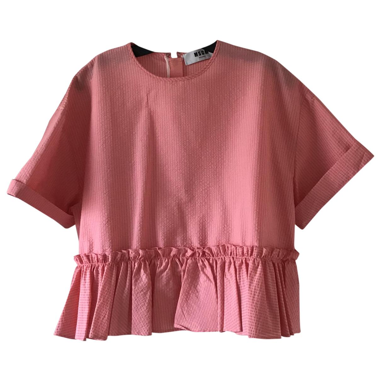 Msgm - Top   pour femme en coton - rose