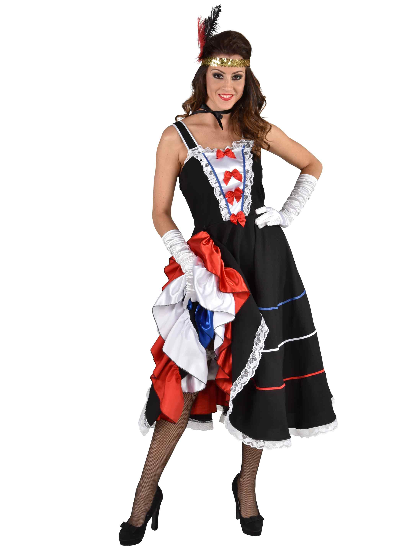 Damen-Kostuem Kleid Can Can schwarz XXL Grosse: XXL (2XL)