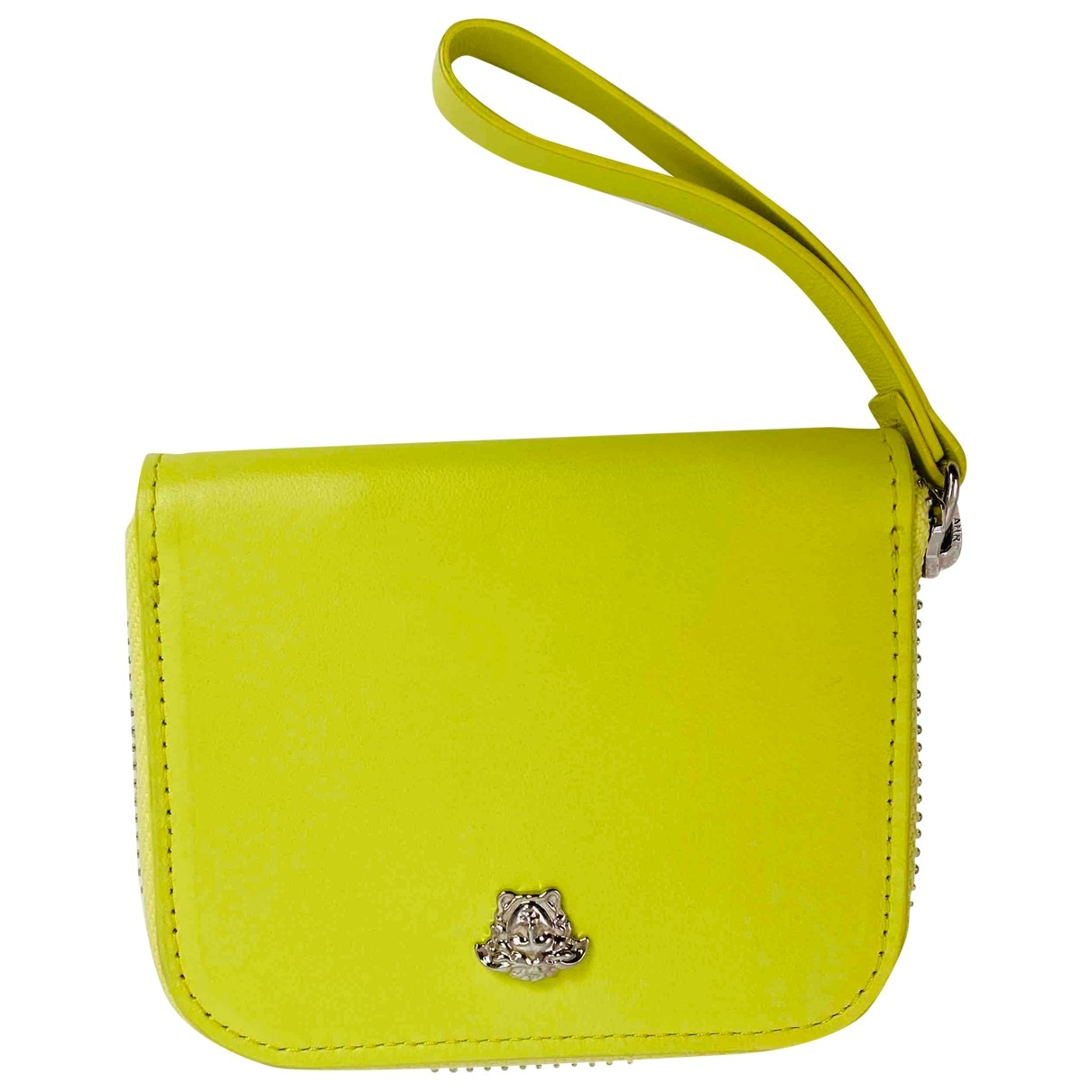 Versace - Petite maroquinerie   pour femme en cuir - jaune