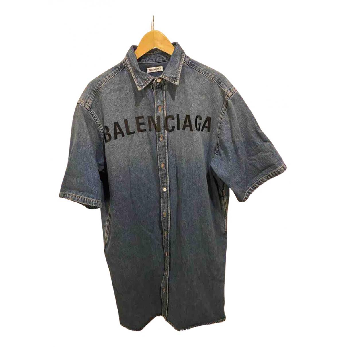 Balenciaga \N Kleid in  Marine Denim - Jeans