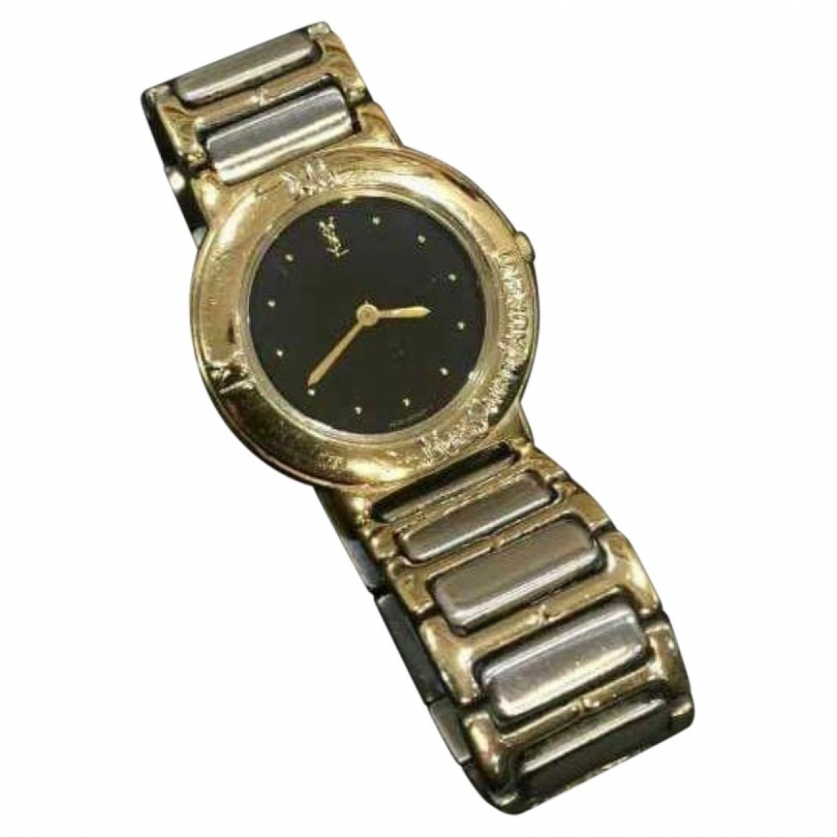 Saint Laurent \N Gold Gold plated watch for Women \N