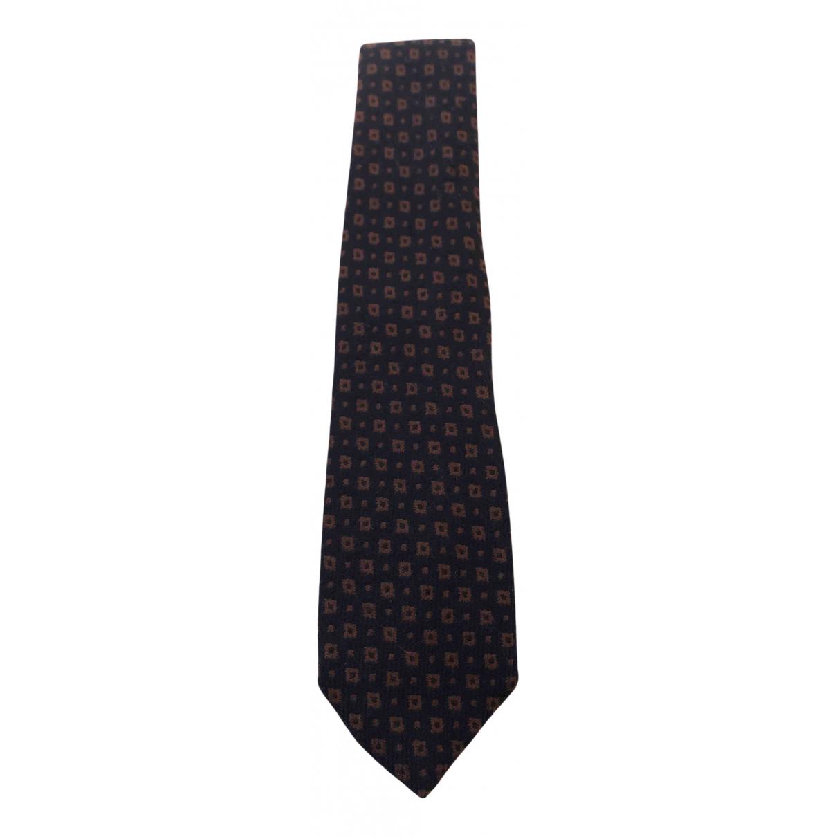 Yves Saint Laurent \N Krawatten in  Blau Wolle
