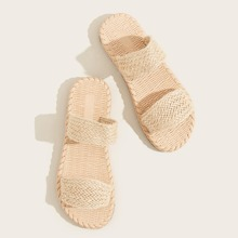 Braided Double Band Slippers