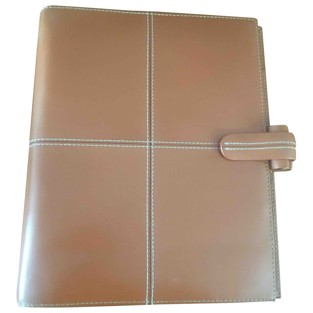 Non Signé / Unsigned \N Brown Leather Purses, wallet & cases for Women \N