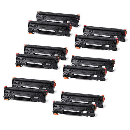 Compatible Canon 137 9435B001 cartouche de toner noire - boite economique - 12/paquet