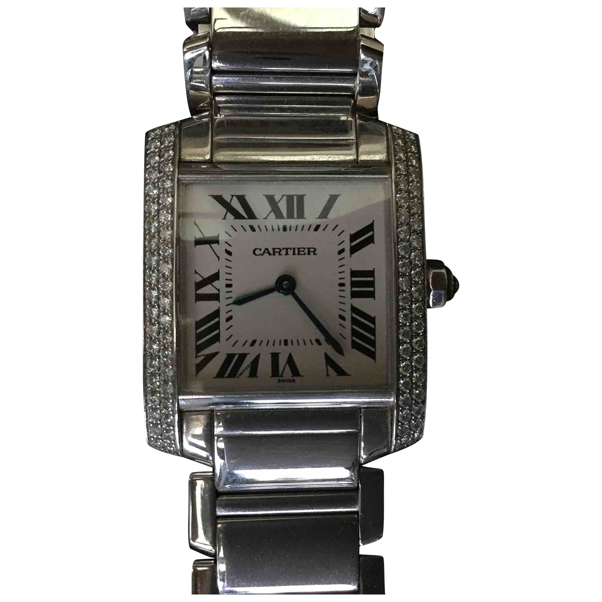 Cartier Tank Française White White gold watch for Women \N