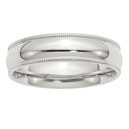 6MM Sterling Silver Wedding Band, 6 , No Color Family