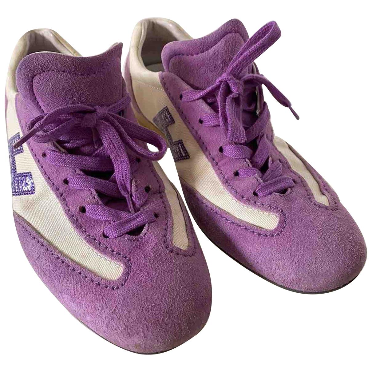 Hogan - Baskets   pour femme en suede