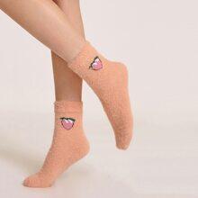 Fruit Pattern Fluffy Socks