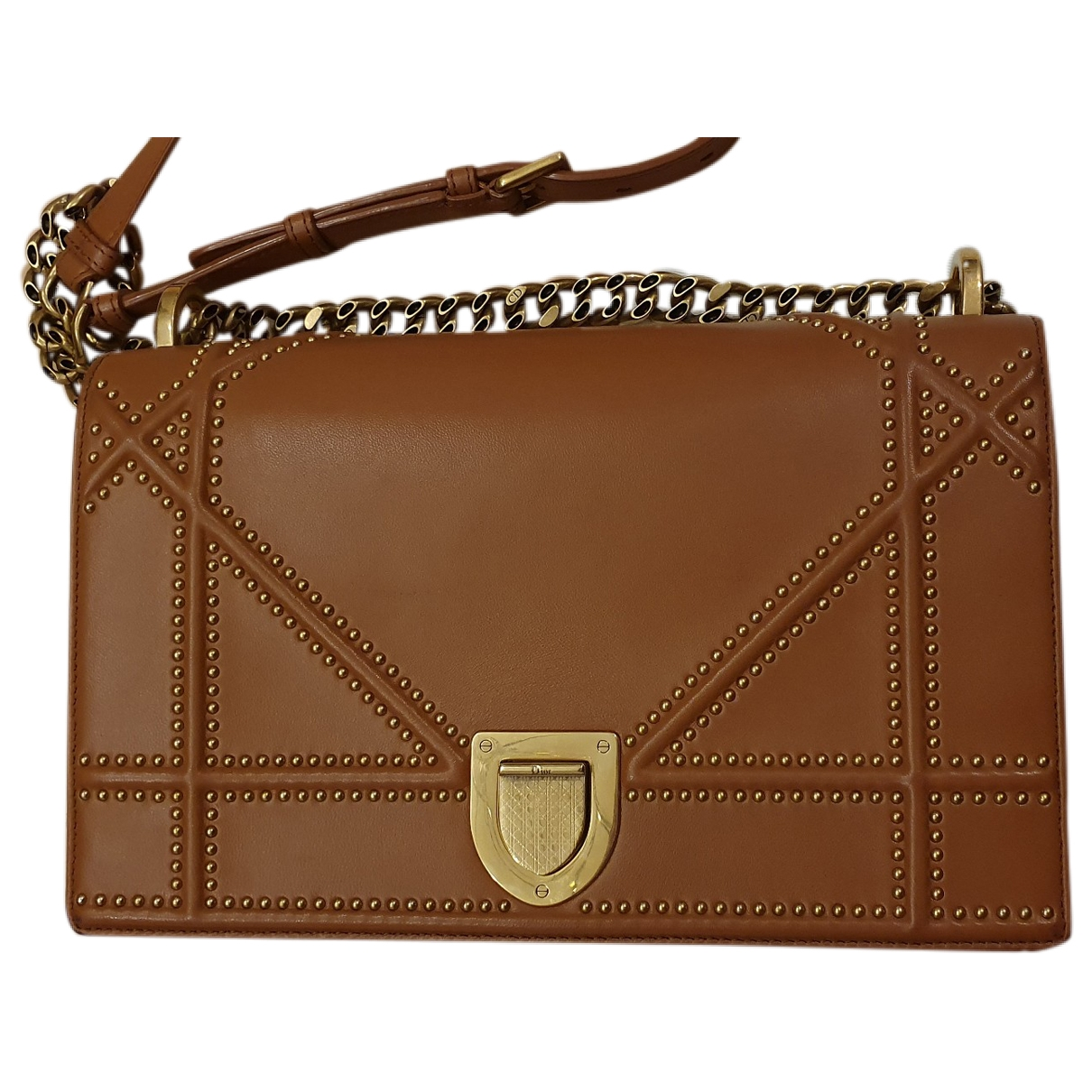 Dior Diorama Camel Leather handbag for Women \N