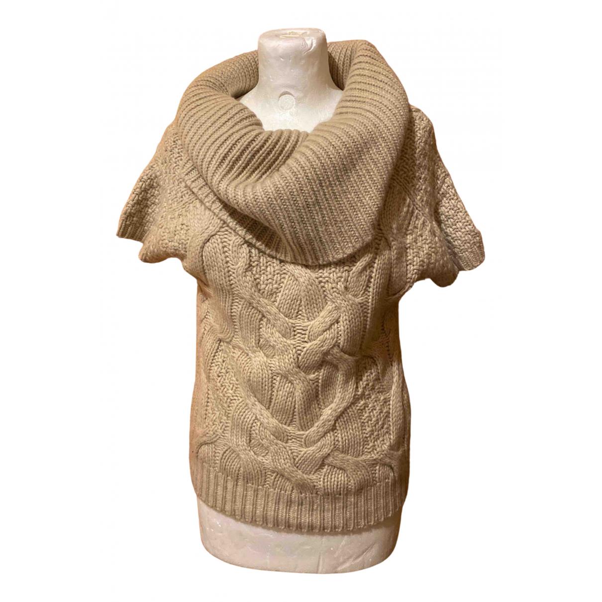 Benetton - Pull   pour femme en cachemire - beige