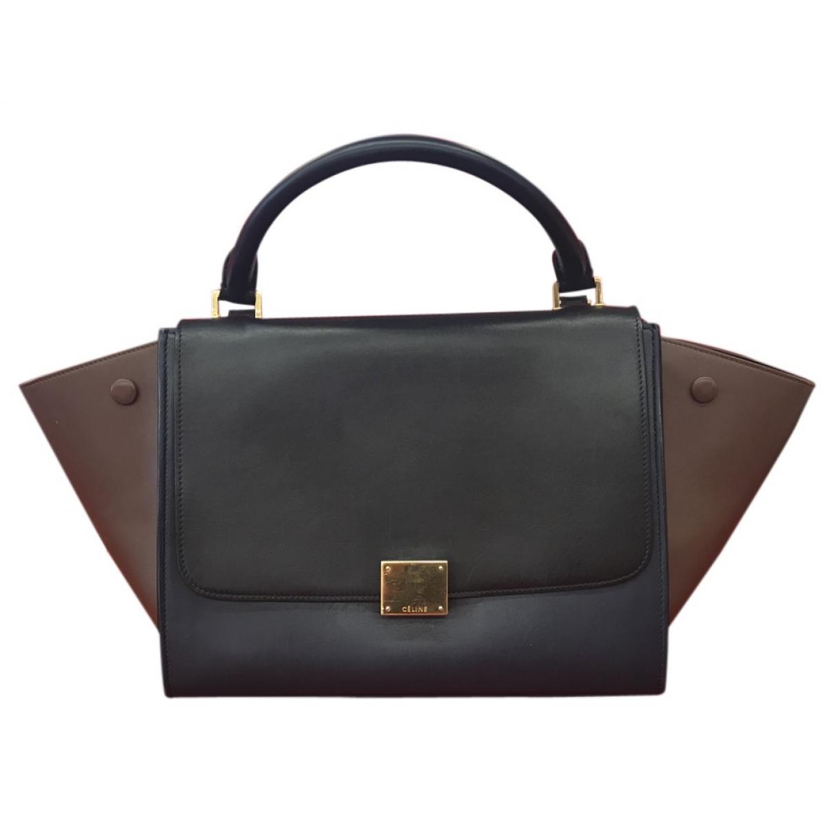Celine Trapèze Blue Leather handbag for Women \N