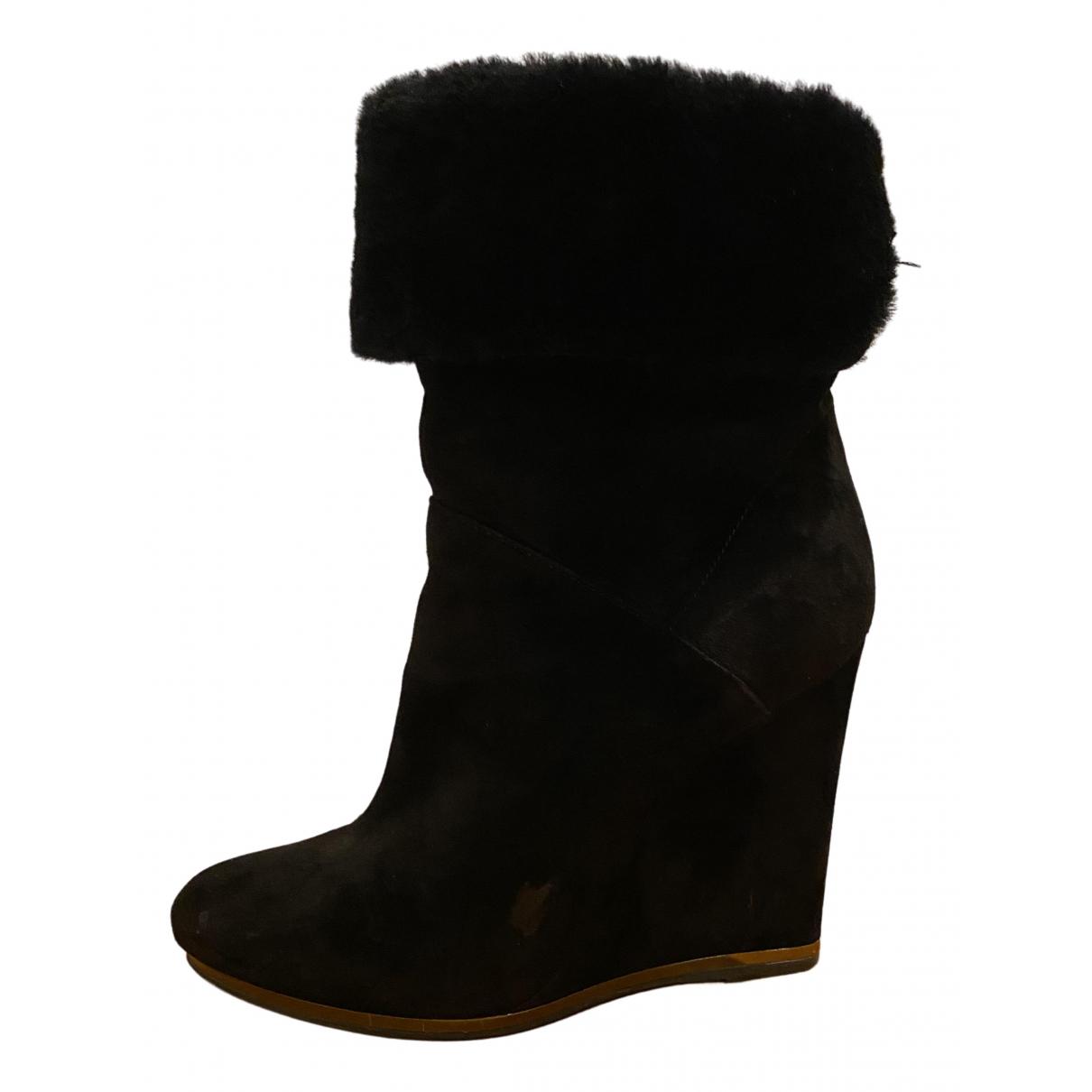 Le Silla - Bottes   pour femme en suede - noir