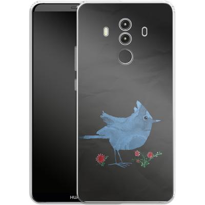 Huawei Mate 10 Pro Silikon Handyhuelle - Watercolour Bird Black von caseable Designs