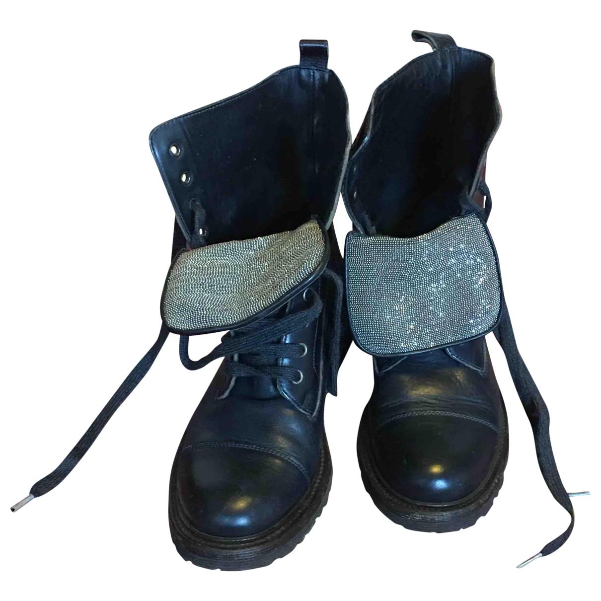 Botas con cordones de Cuero Brunello Cucinelli