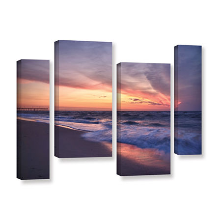 Brushstone Outer Banks Sunset I 4-pc. Gallery Wrapped Staggered Canvas Wall Art, One Size , Orange