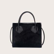Simple Fluffy Satchel Bag